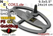 NEL SharpShooter Fisher Teknetics F5 GoldBug G2 G2+ Coil...