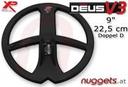 """XP DEUS 22,5 cm 9"""" Doppel D Funk Coil SuchSpule"""