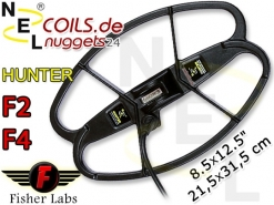 "NEL Hunter Fisher F2 F4 Coil Suchspule 8.5x12.5 "" 21,5x31,5 cm"