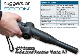 SECON GPP 1.4 German Pro Pin Pointer Metalldetektor
