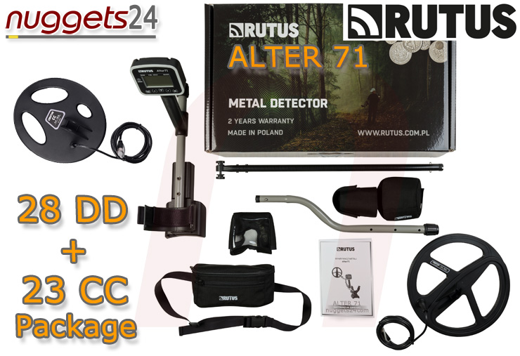 Detech CHRutus Alter 71 Multi Frequenzy Detector DUO COIL 2 Spulen Set Package nuggets24.comASER 14 kHz DUO COIL 2 Spulen Set Package nuggets24.com