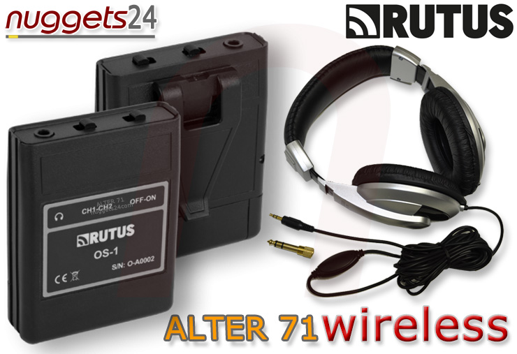 Rutus Alter 71 inklusive Funksender Funkempfänger Kopfhörer 2 Spulen 23 + 28 cm bei nuggets24 im Metalldetektoren OnlineShop