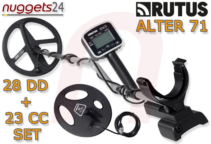 Rutus Alter 71 Profi Metalldetektor Metal Detector DUO coil 2 Suchspulen Package nuggets24com Multi Frequenzy Mehrfachfrequenz