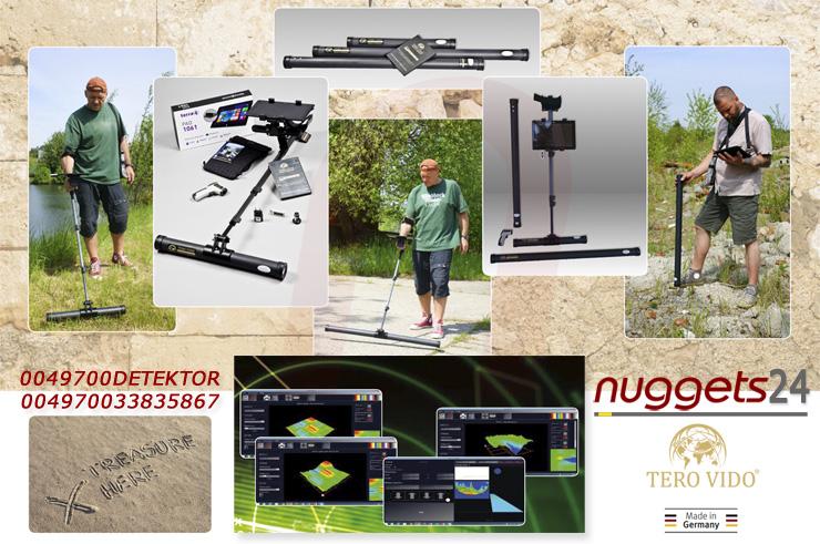 Metalldetektor zur Tiefensuche mit PC Tablet bei nuggets24