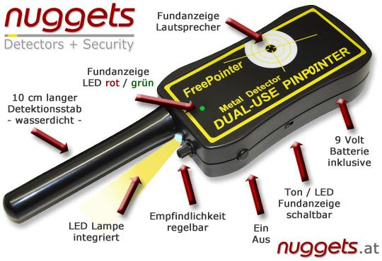 ATPRO von GARRETT Inklusive GRATIS FreePOINTER PinPointer bei www.nuggets.at