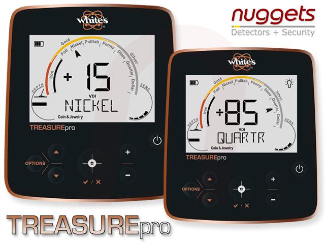 Whites Treasuremaster Treasure Pro Display Metalldetektor Metal Detector nuggets nuggets24com