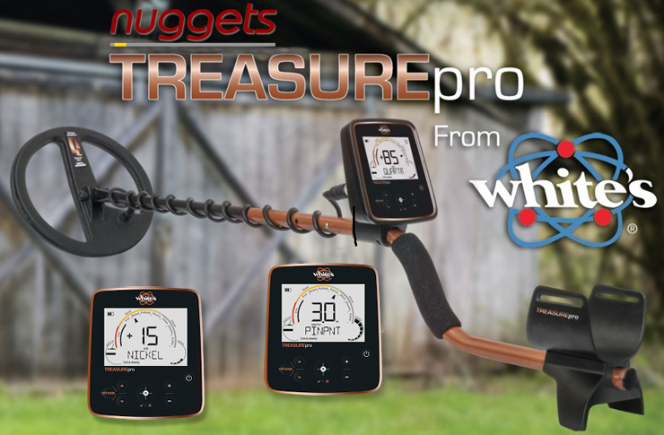 Whites White´s Treasure PRO Master Metalldetektor nuggets24com nuggets