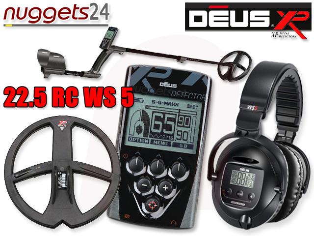 XP Deus 22 RC WS5 nuggets24.de Metalldetektor Shop mit Beratung und Service 0049 700 33835867