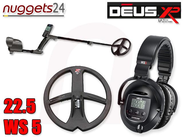 XP Deus 22 WS5 www.nuggets24.de Metalldetektor Shop für Schatzsuche