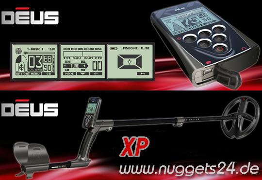XP DEUS Profi Set kaufen Sonderangebot bei www.nuggets.at Online Shop Metalldetektor und Ortungstechnik