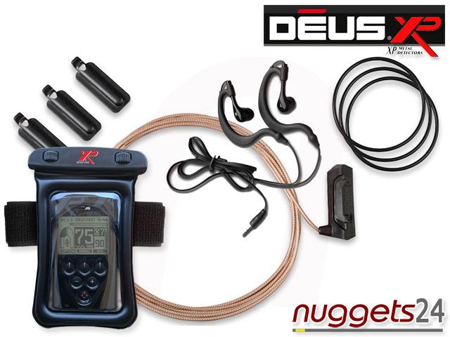 XP DEUS UW Kit C Unterwasser Set www.nuggets.at Metalldetektor Online Shop Metal Detector Detektor Detektoren Schatzsuche