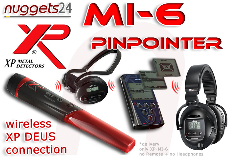 MI-6 MI6 MI 6 XP PinPointer for DEUS nuggets24.com Metal Detector Online Shop