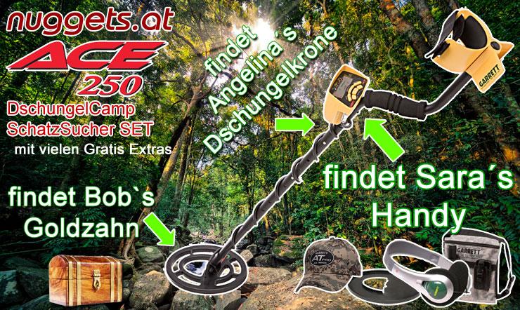 DschungelCamp Metalldetektor findet Bobs Goldzahn und natürlich auch Angelinas Dschungelkrone siehe nuggets.at