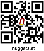 QR CODE mit Handy scannen und nuggets.at contact abspeichern