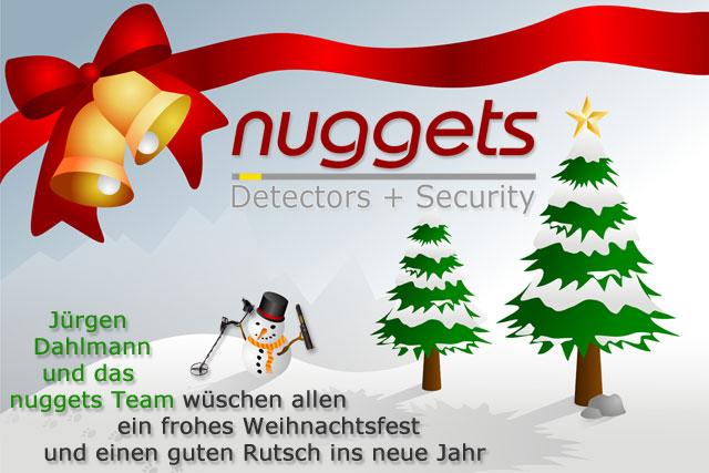 Frohe Weihnachten wünscht euch das nuggets24 Metalldetektor Shop Team