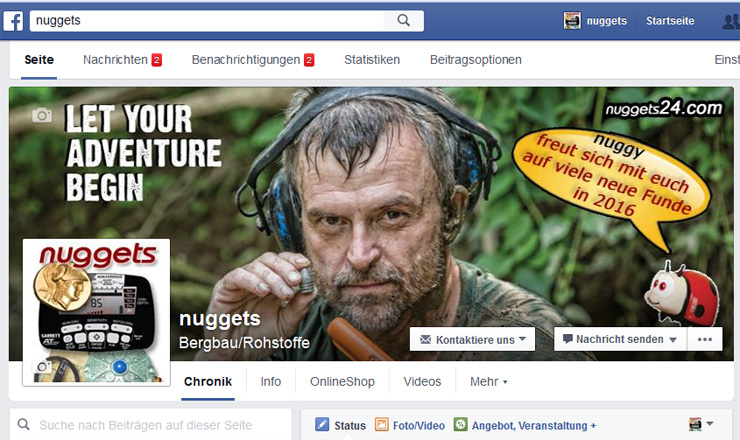 facebook nuggets24 Schatzsucher Neuigkeiten Treasure Hunter News