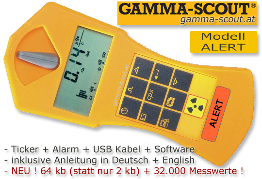 GAMMA SCOUT Geiger Zähler Nuclear Radiation Counter www.gamma-scout.at