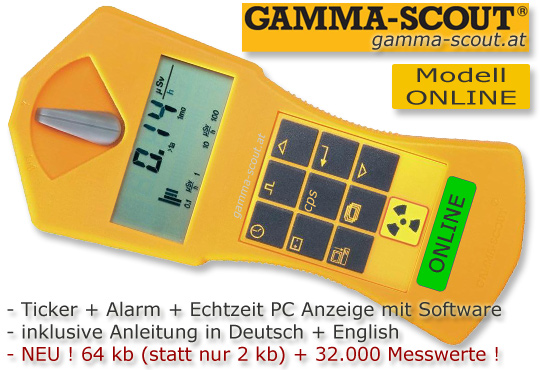 GammaScout kauft man bei www.gammascout.at oder www.nuggets.at im OnlineShop Alles sofort lieferbar