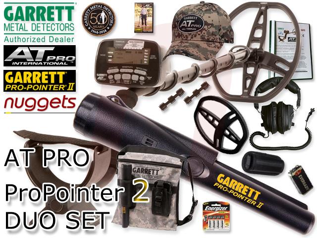 Garrett AT PRO Pro Pointer II 2 DUO SET Metalldetektor kauft man ein nuggets.at mit Beratung Service und Garantieerweiterung