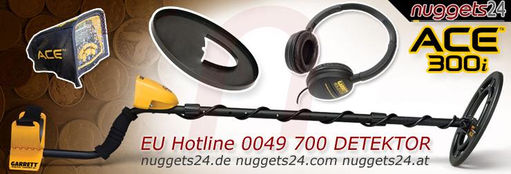 Garrett ACE300i ACE 300 i nuggets24 Metalldetektoren Online Shop