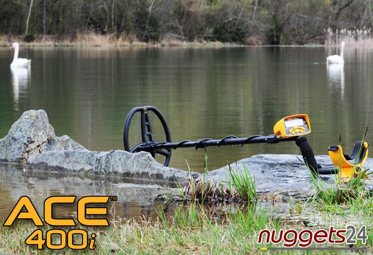 GARRETT ACE 400 i Metalldetektor Online Shop www.nuggets24.de