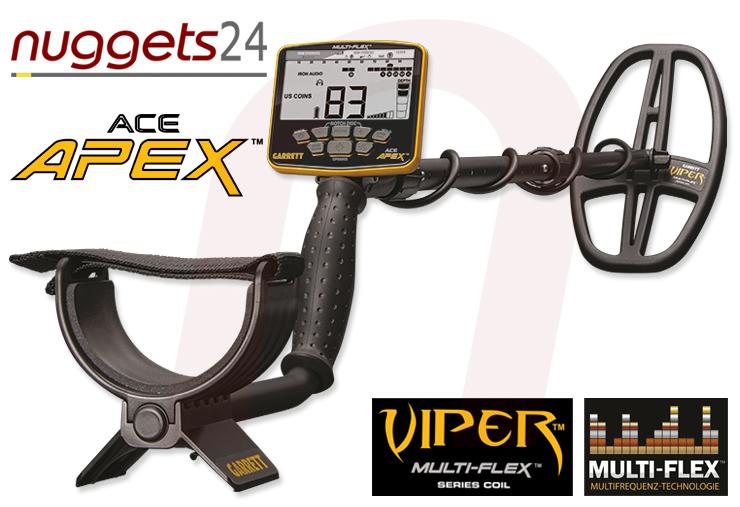 APEX Metalldetektor von GARRETT bei nuggets24de im Sondengänger Shop Lass Sondeln