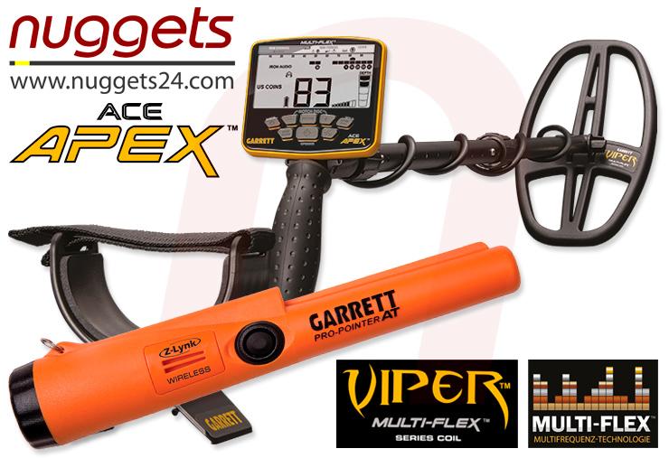 APEX + FUNK Pro-Poiner AT Metalldetektor von GARRETT bei nuggets24de im Sondengänger Shop Lass Sondeln