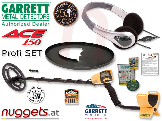 Garrett ACE 150 Metalldetektor Metal Detector www.nuggets.at