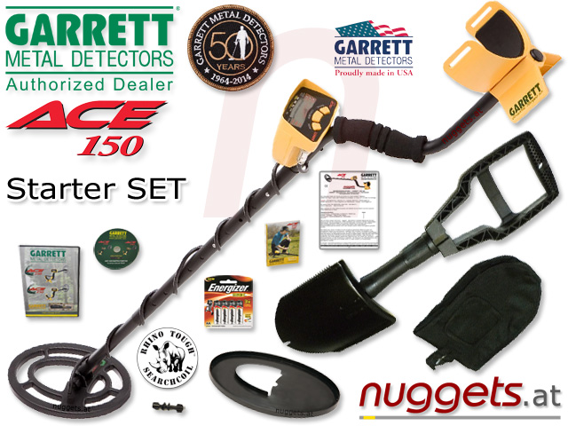 GARRETT Metalldetektor Gold Detektor sofort lieferbar bei nuggets.at OnlineShop AbholShop ShowRoom Beratung Service Sonderangebote SET-Preise