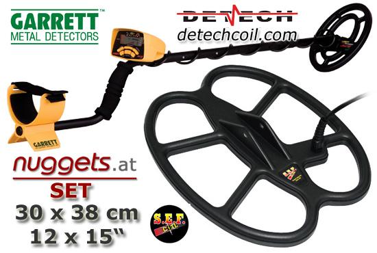 GARRETT DETECH SET ACE250 + 12x15 nuggets24 Sonderangebot