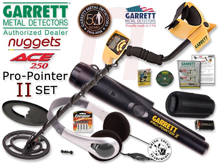 Garrett ACE 250 ProPointer II Pin Pointer Metalldetektor SET kauft man bei nuggets.at