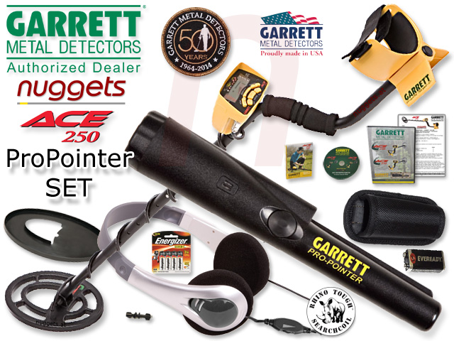 Garrett ACE 250 ProPointer Pin Pointer Metalldetektor SET kauft man bei nuggets.at