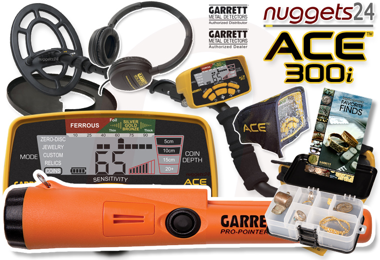 Garrett ACE300i ACE 300 i Pro Pointer AT wasserdichter PinPointer DUO Set nuggets24 Metalldetektor-Shop