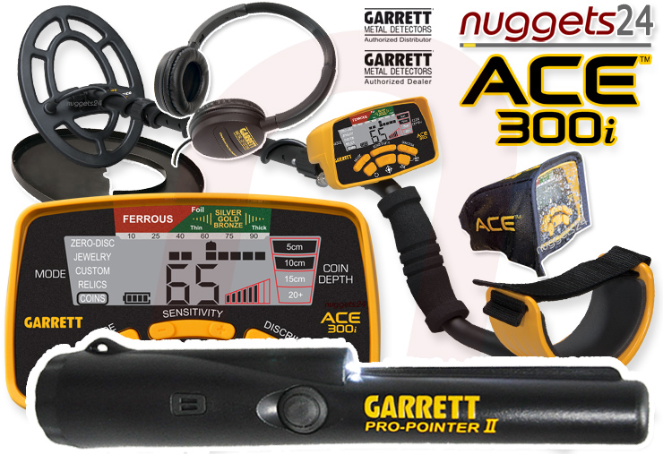 Garrett ACE300i ACE 300 i Pro Pointer DUO Set nuggets24 Metalldetektoren Online Shop
