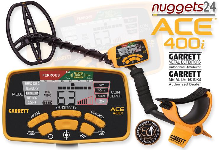 Garrett ACE 400i 400 ACE400i nuggets24 Metalldetektor Online Shop Metal Detector