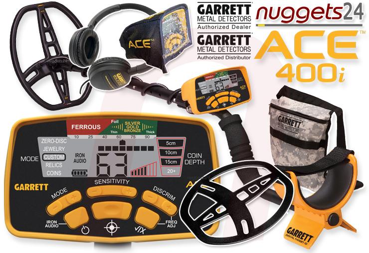 Garrett 400i ACE nuggets24.de nuggets.at Metalldetektor Online Shop Metallsonde