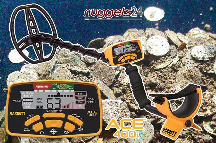 Silberschatz in Rügen Wikingerzeit Blauzahn gefunden mit GARRETT ACE400i Metalldetektor von einem 13-jährigen Jungen - nuggets24 Metalldetektoren Sonderangebote sofort lieferbar
