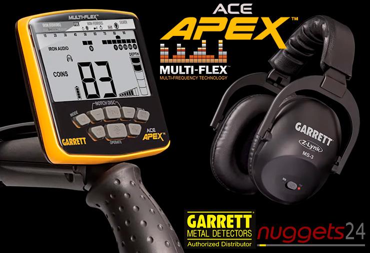 Garrett APEX ACEAPEX nuggets24 Metalldetektor Online Shop Metal Detector