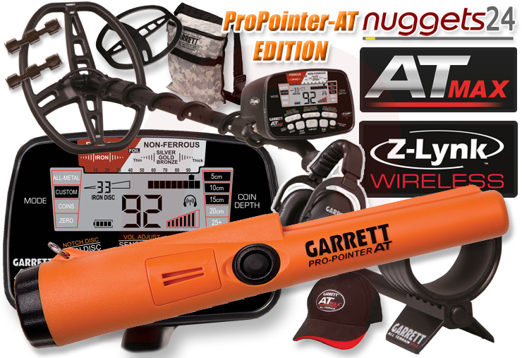 Garrett AT MAX ATMAX AT-MAX inklusive Pro Pointer AT PinPointer nuggets24 Special Offer