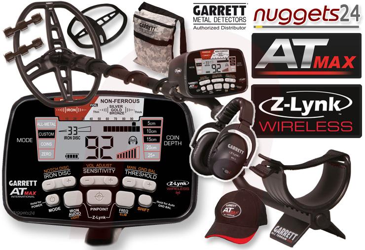 Garrett AT-MAX Metalldetektor wasserdicht leistungsstark vom nuggets24 Fachhandel mit Beratung und Profi Service