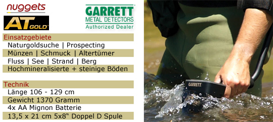 ATGOLD Garrett GoldDetektor Gold Detector Prospecting Goldsuche www.nuggets.at OnlineShop ShowRoom Metalldetektoren