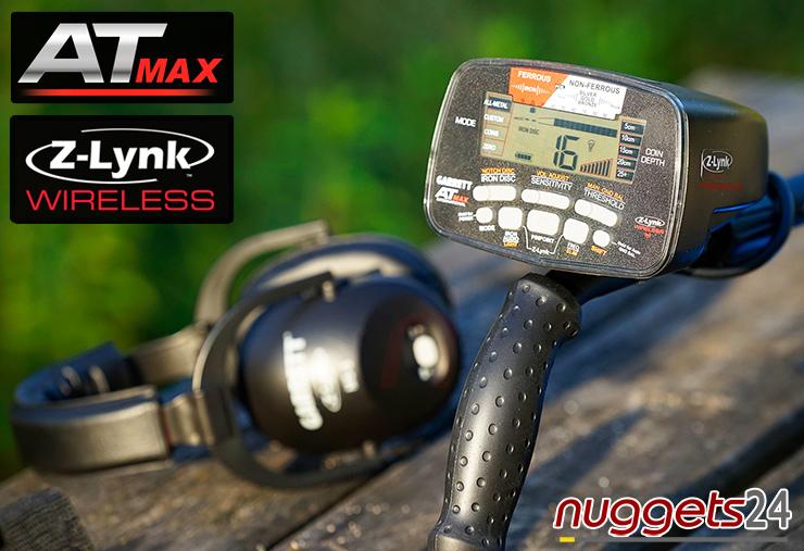 GARRETT AT MAX AT-MAX AT MAX Metalldetektor Neuheit Metal Detctor Bestseller www.nuggets24.com