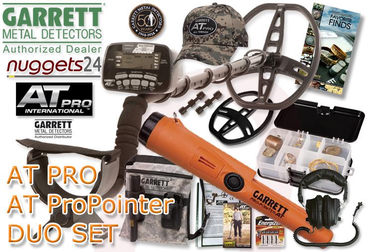 Garrett AT PRO + AT Pro-Pointer DUO SET Metalldetektor kauft man bei nuggets.at mit Beratung Service und Garantieerweiterung