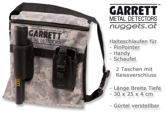 GARRETT Camo Pouch Tasche bei nuggets24 Metalldetektor OnlineShop