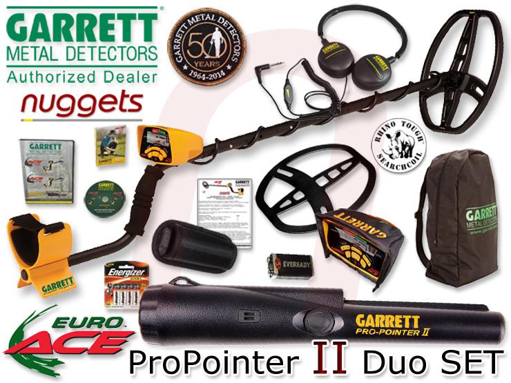 Garrett EuroACE Euro ACE inklusive ProPointer II bei nuggets im DUO SET Sonderangebot + Extras