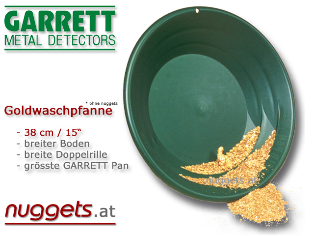 GARRETT Gold Pan www.nuggets.at