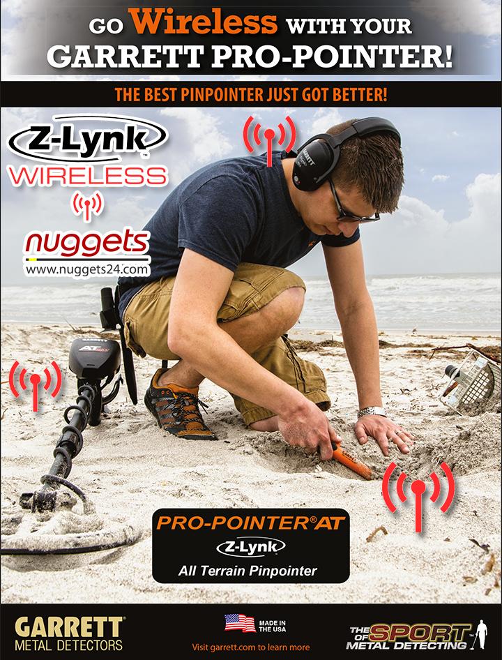 Z-LYNK Pro-Pointer von GARRETT bei nuggets24.com im Metalldetektoren Online Shop