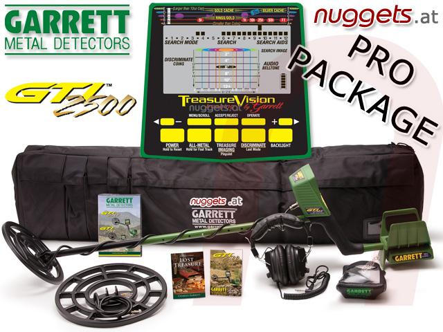 GARRETT GTI 2500 PRO PACKAGE SUPREME bei www.nuggets.at Metalldetektor Online Shop Metal Detector