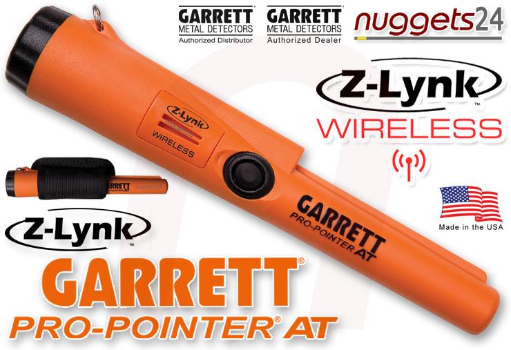 GARRETT Pro-Pointer Z-LYNK ZLynk wasserdichter FUNK PinPointer für alle Metalldetektoren nuggets24com