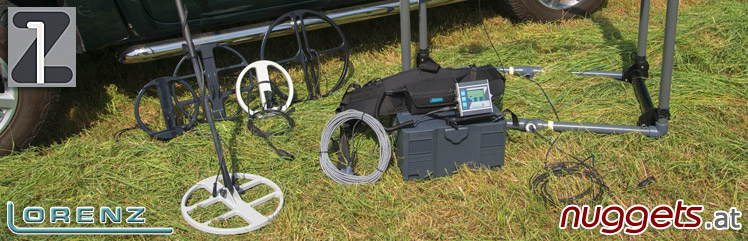 Lorenz Metal Detector made in Germany Equipment Zubehör www.nuggets.at Metalldetektor Online Shop